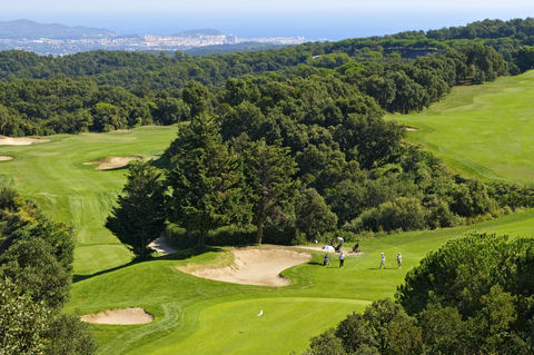 Playing golf on the Costa Brava