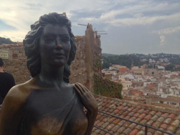 Statue of Ava Gardner in Tossa de Mar