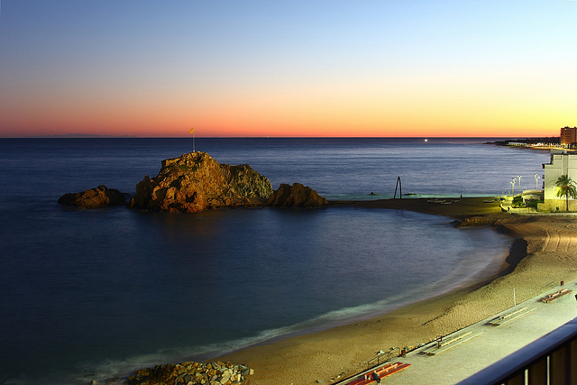 Sa Palomera rock marks the start of the Costa Brava in Blanes.