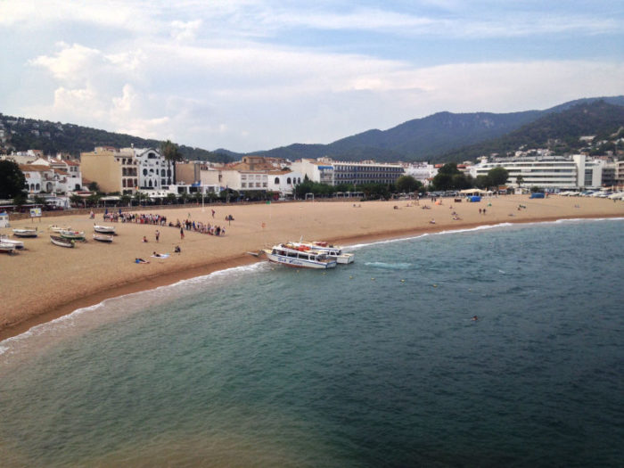 Tossa de Mar's beach from the castle