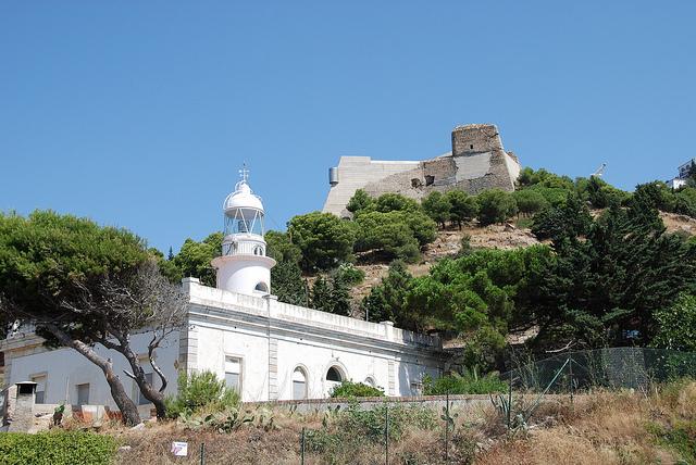 Castell de la Trinitat above the lighthouse